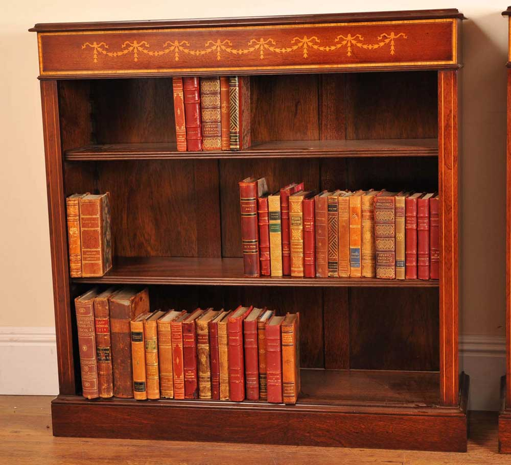 This bookcase is in the Sheraton style and hand crafted from mahogany
