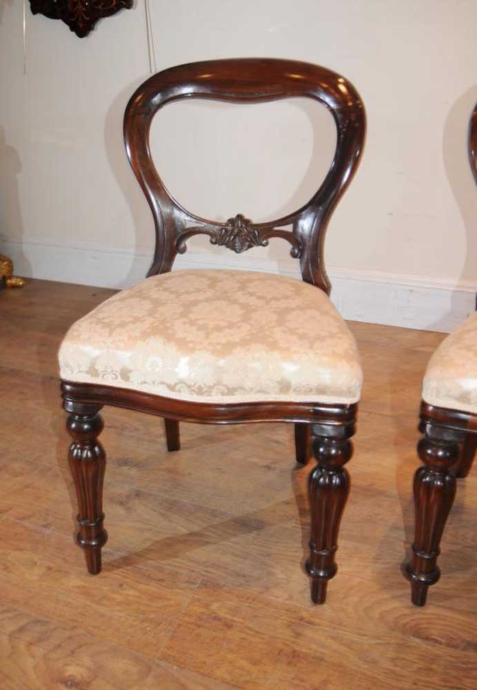 Classic Victorian balloon back dining chair