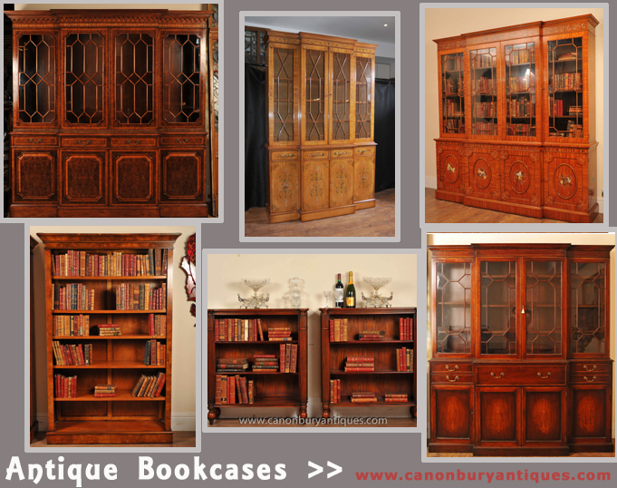 Whole range of other antique bookcases including breakfronts