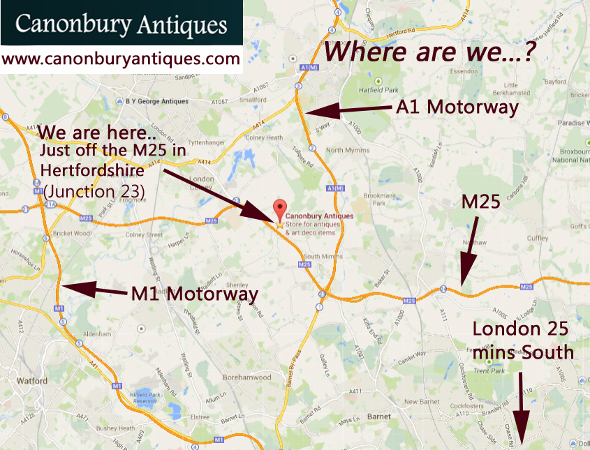 Canonbury Antiques where is our North London antiques showroom?