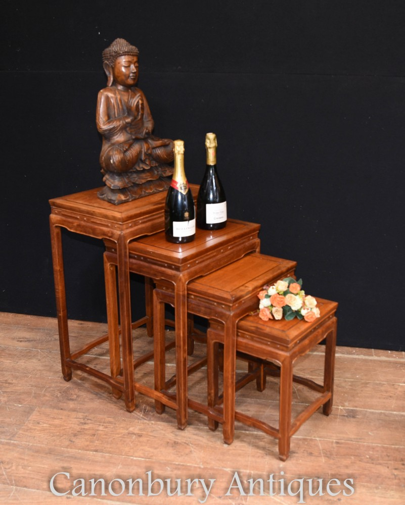 Chinese Nest of Tables Set 4 Quartetto Hardwood