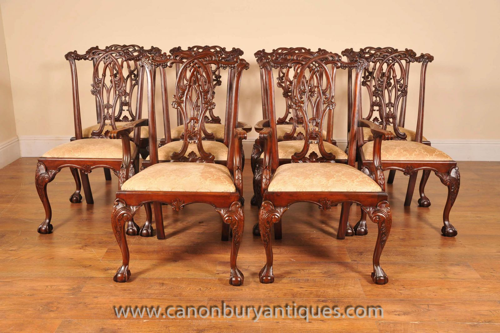 Set Of Chippendale Chairs With Ball And Claw Feet Chippenale Dining
