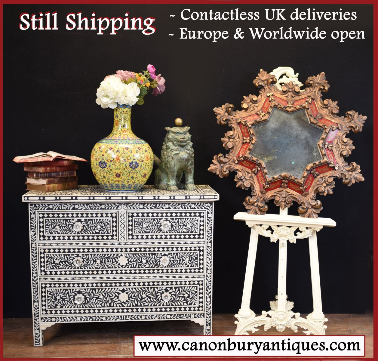 Canonbury Antiques still fulfilling all orders to UK and rest of world