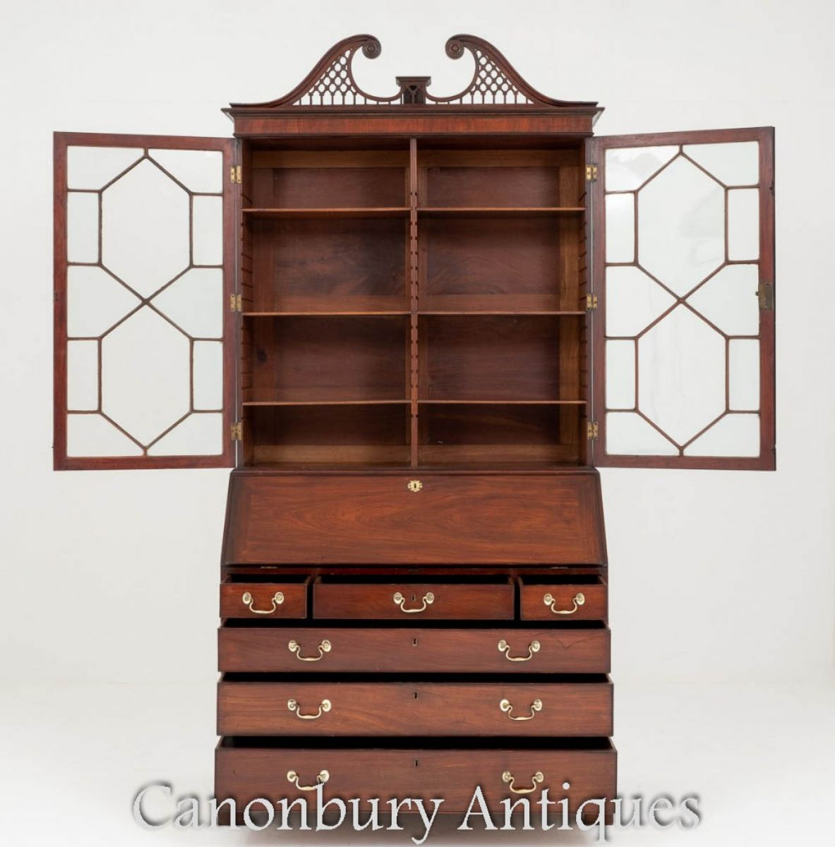 Antique George II Bureau bookcase