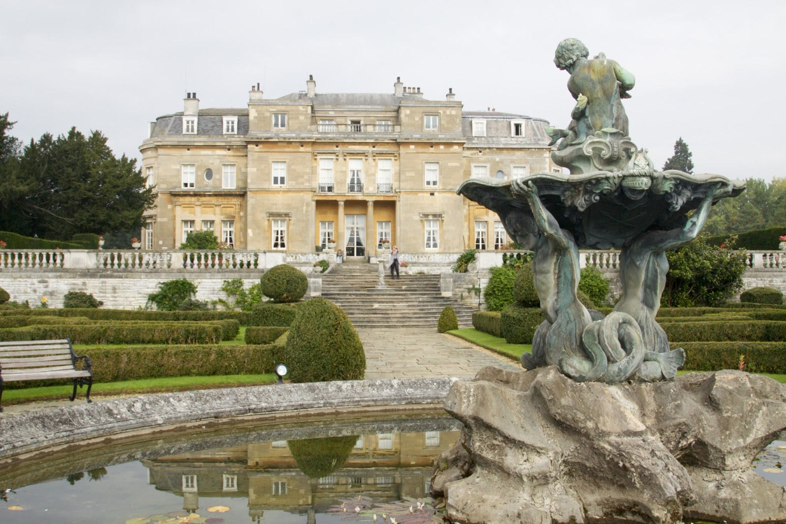 Love the classical bronze fountain in the gardens of Luton Hoo