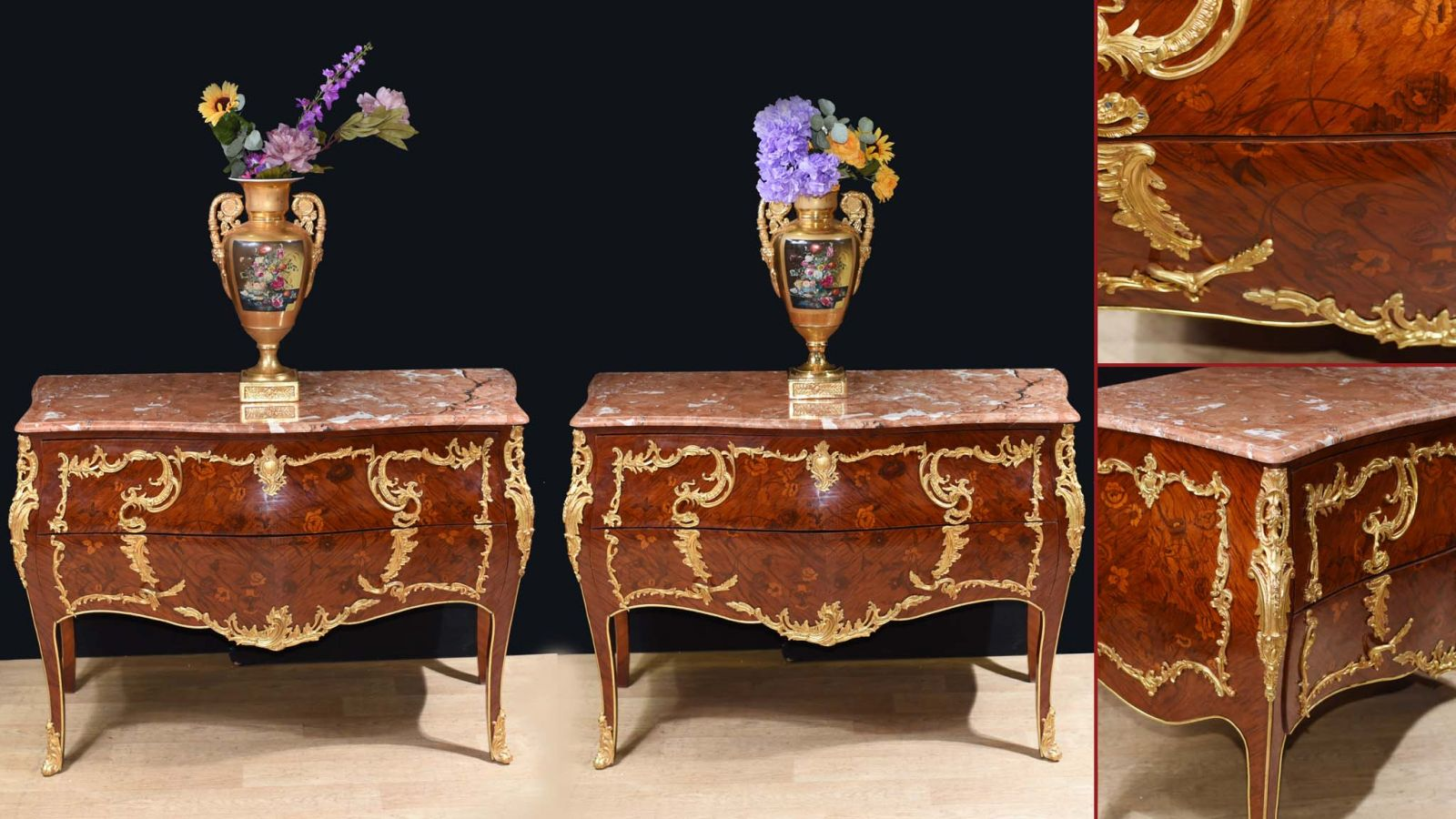 French Bombe Commodes