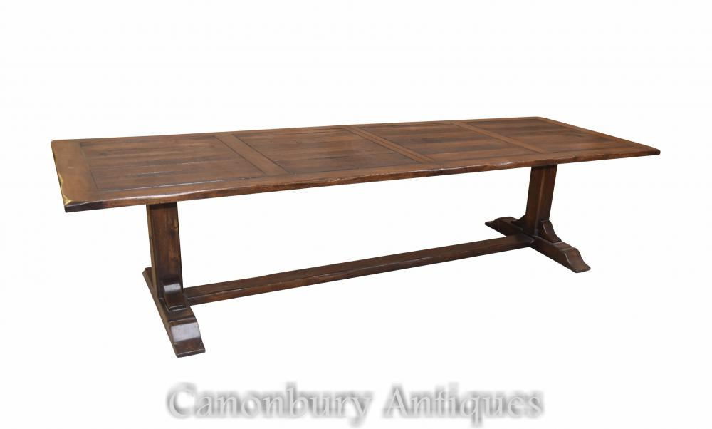Large extending refectory table
