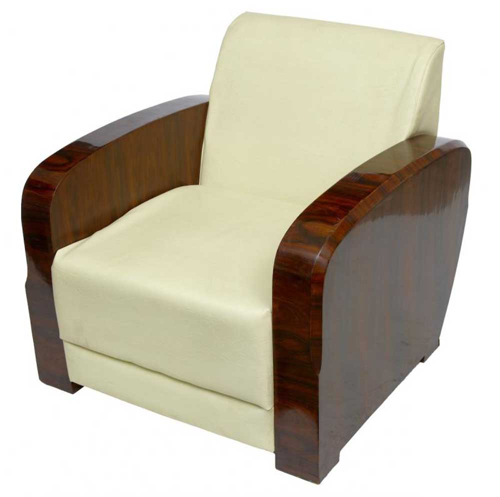 Art deco club chairs for Art deco furniture