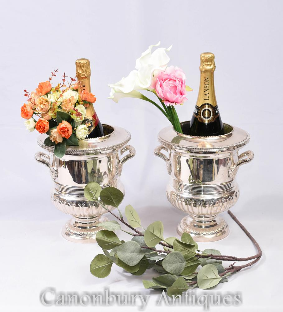 Silver Plate ice buckets