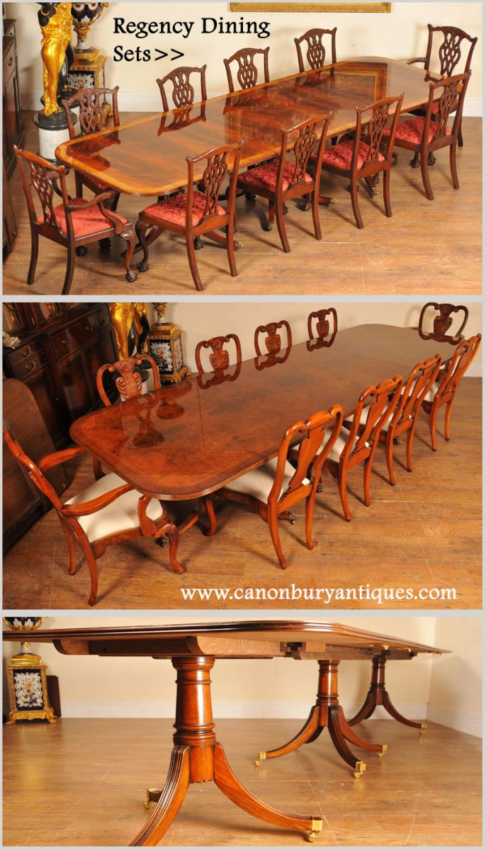 Regency dining sets - one of our specialities