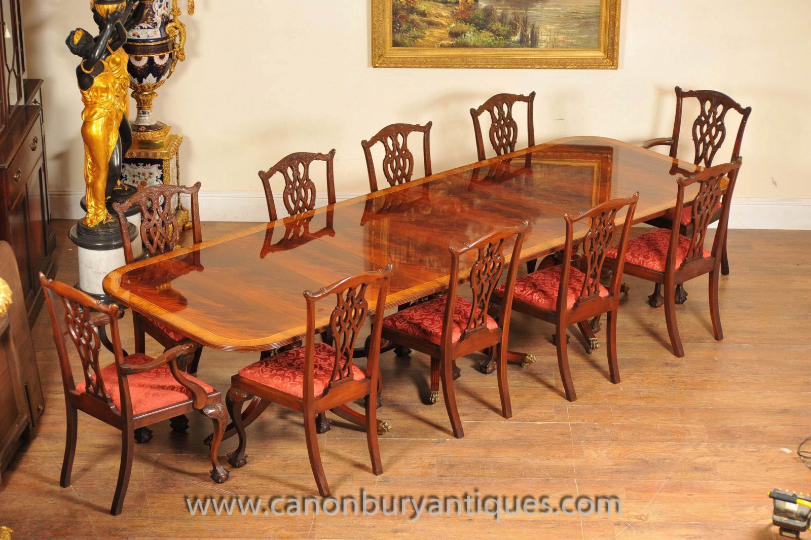 Regency Table and Chippendale Chairs & English Antique Dining Tables and Chairs - A Guide