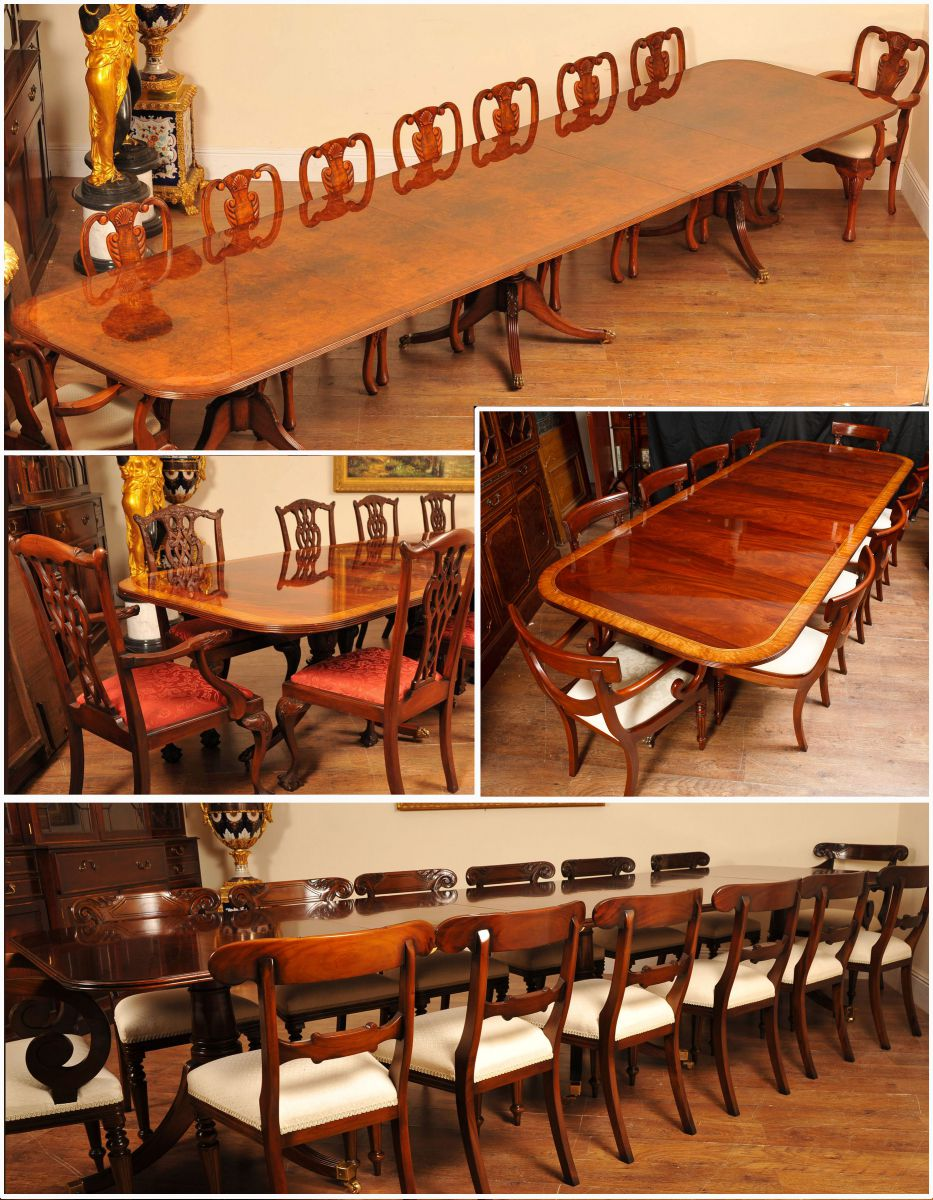 A pictoral selection of our range of Regency tables and chair sets