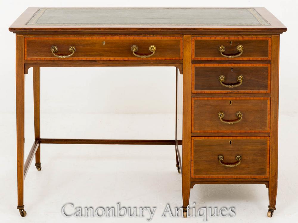 Sheraton Revival Desk in Mahogany