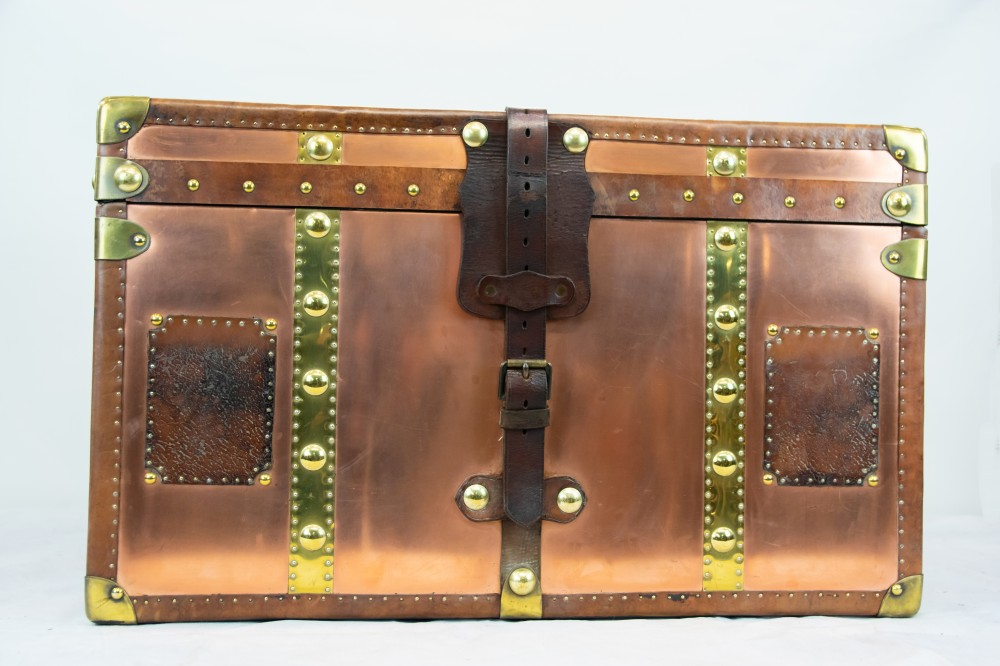 Copper finished luggage case