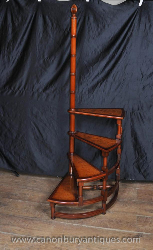 Victorian Library Ladder Step Ladders Walnut Stair-