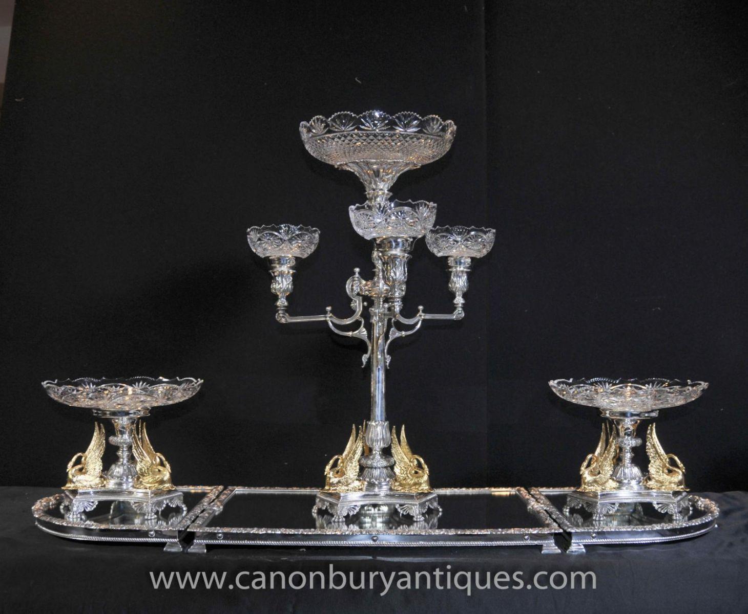 Matthew Boulton silver plate epergne