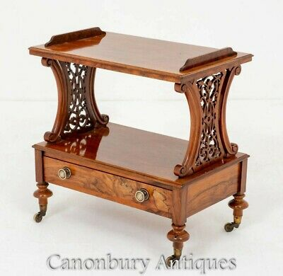 Victorian Etagere Table Antique Walnut 1860