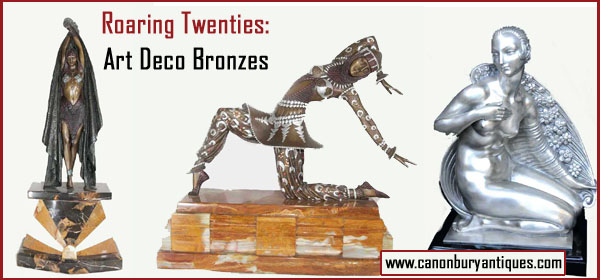 Decorate your Roaring Twenties party with some art deco bronzes