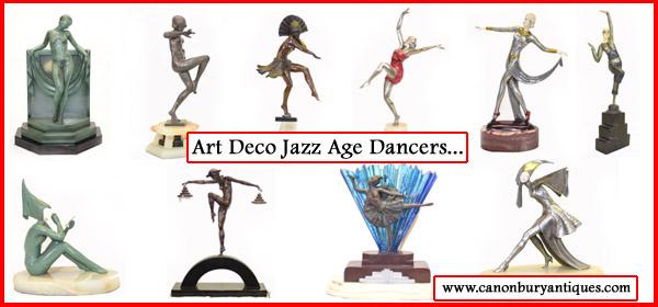 Art Deco Bronze dancers
