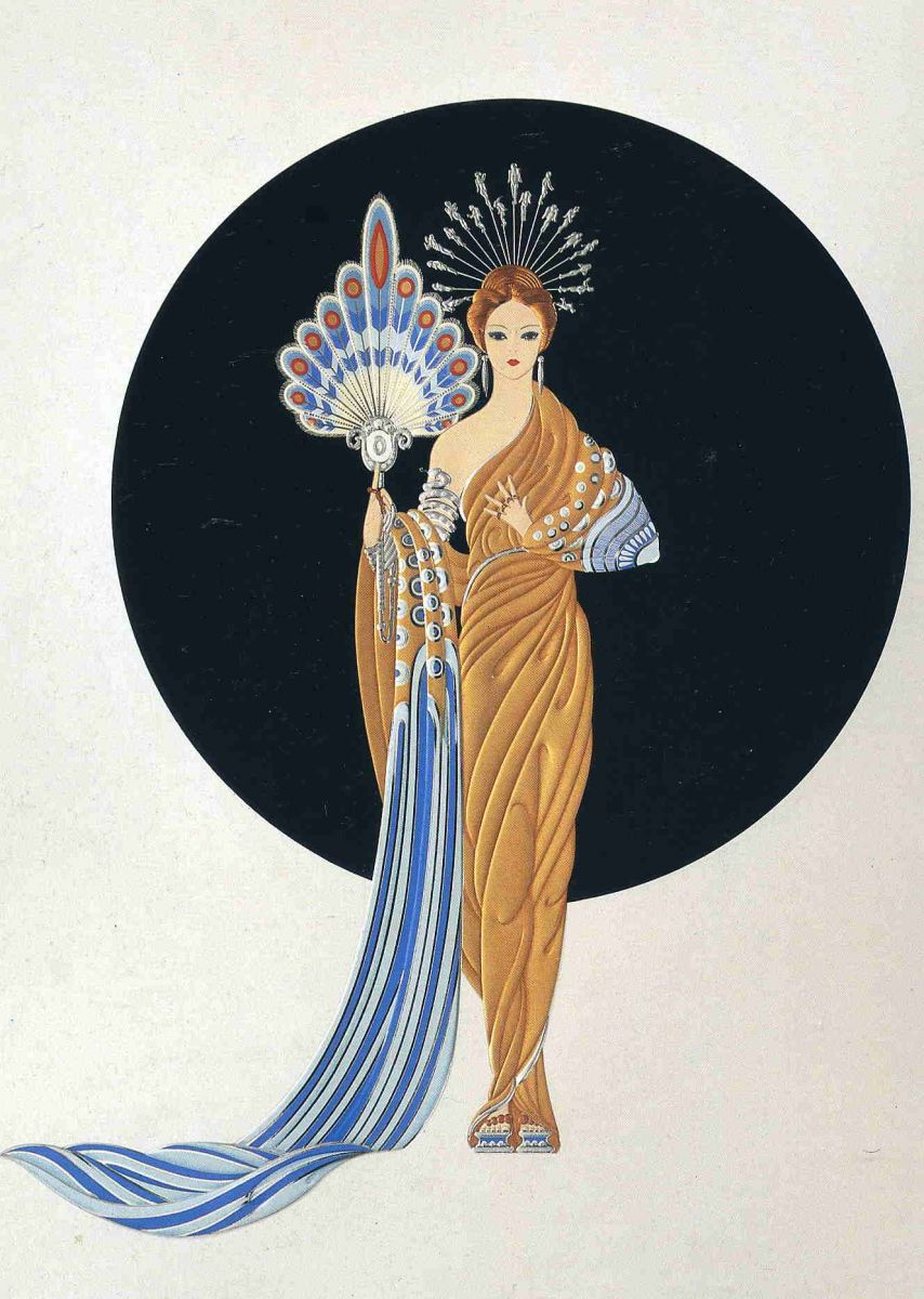 The fashion designer Erte extered a massive influence sartorially