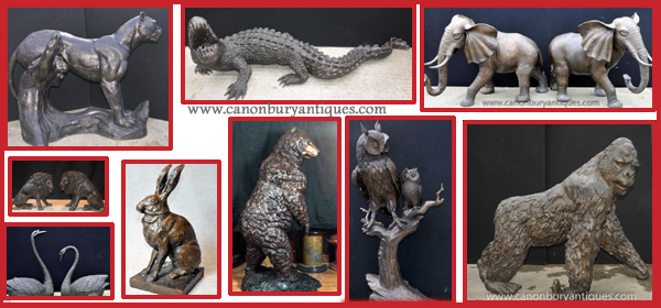 Large bronze animals from Canonbury Antiques
