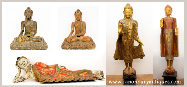 Lots of Buddha statues for that Asian interior look