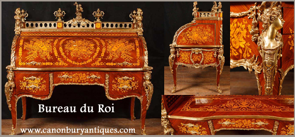 Bureau de Roi - French roll top desk