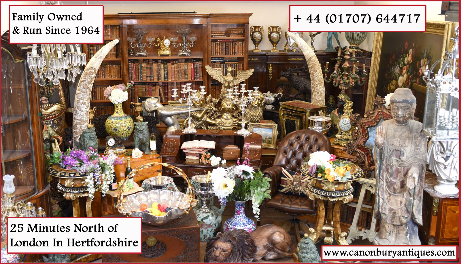St Albans antiques - massive interiors showroom just 10 minutes from City centre