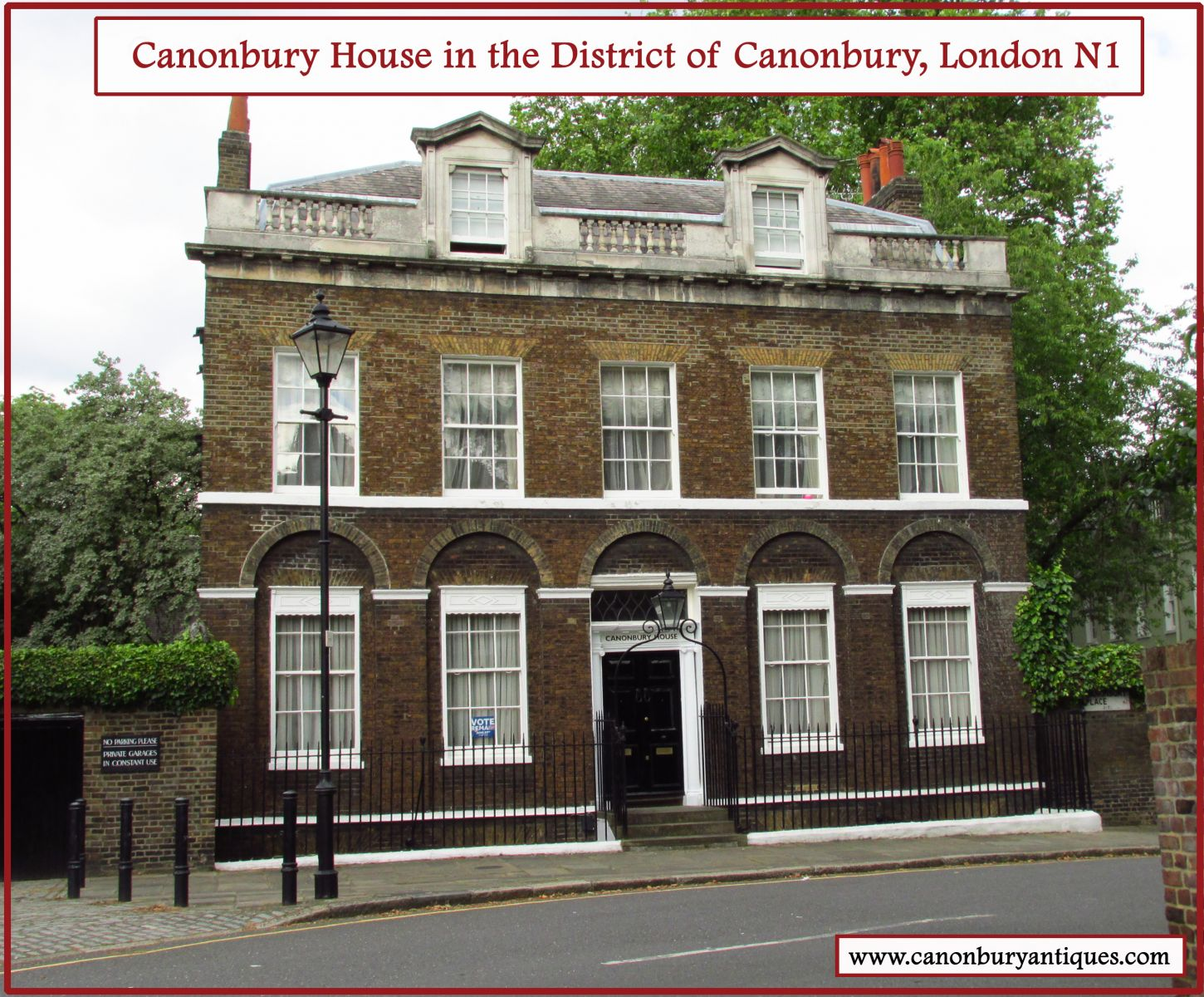 Canonbury House, Canonbury Pl, London N1 - classic period London town house
