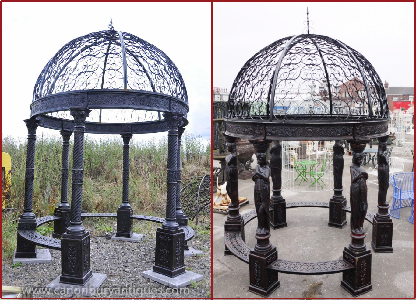 Victorian cast iron gazebo