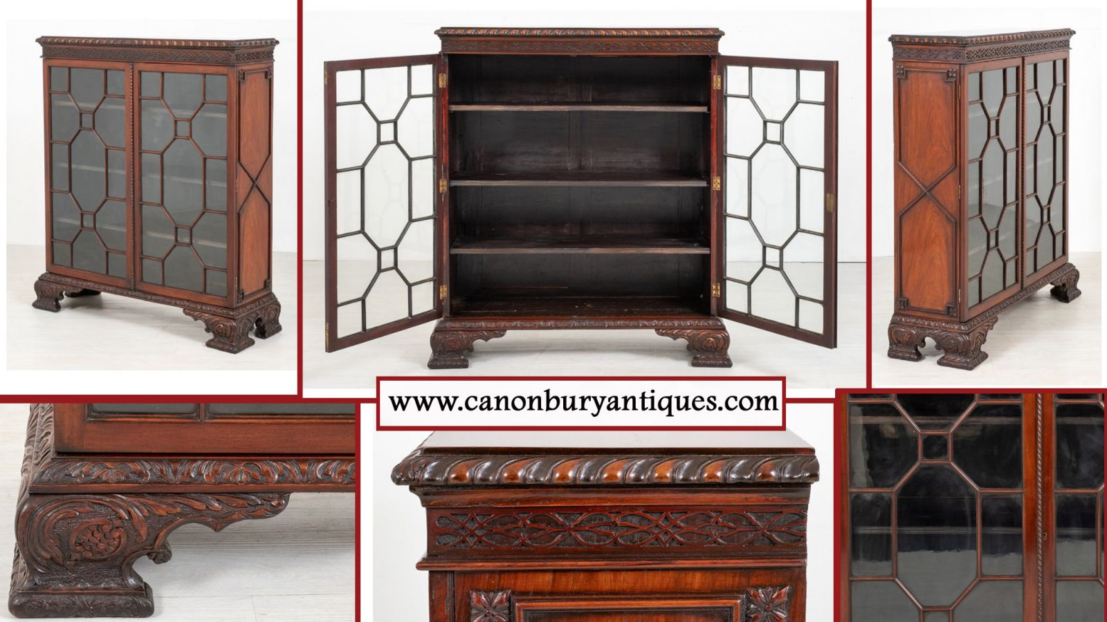 Chinese Chippendale display cabinet