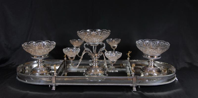 Epergne with Elkington silver plate