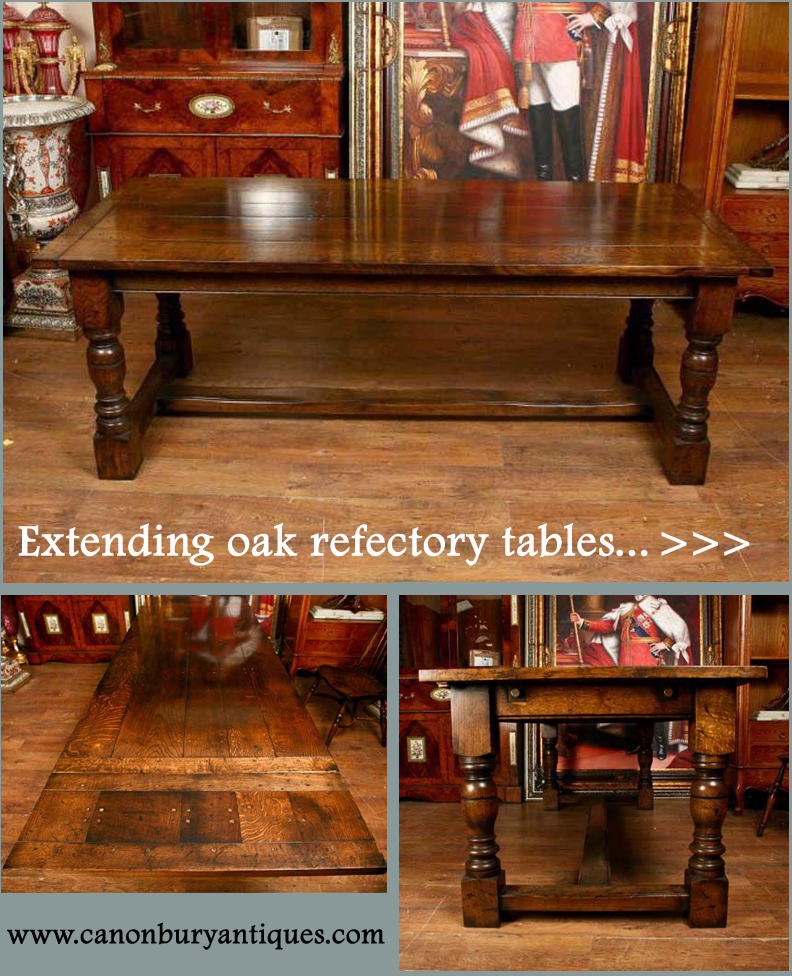 If you are looking to seat more guests, our range of extending refectory tables are just the ticket
