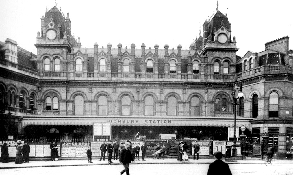 Highbury and Islington - the grand facade before being bombed in