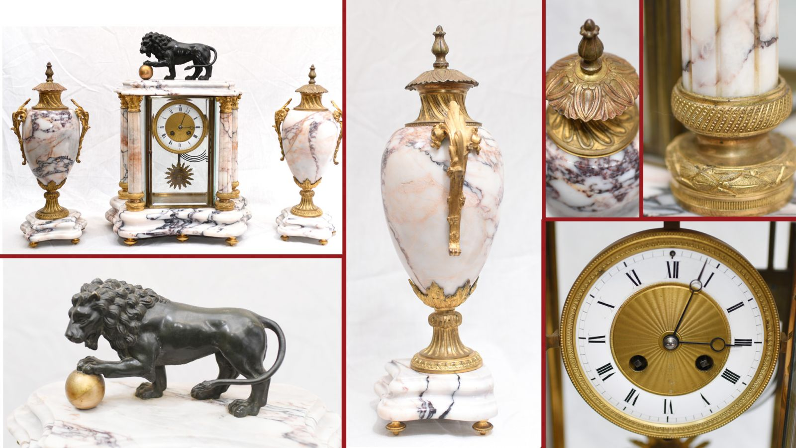 Antique Clock Sets from Canonbury Antiques
