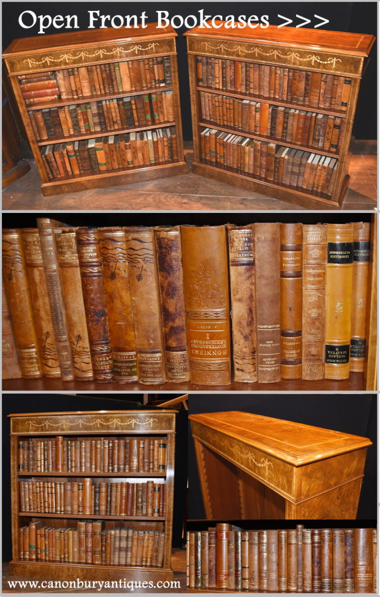 Various Regency open front bookcases