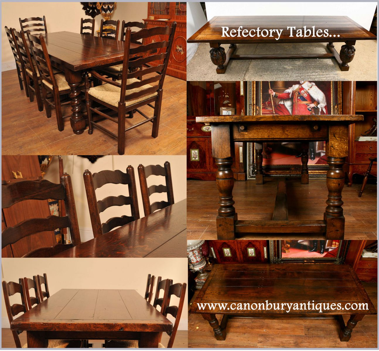 This set look superb around the refectory table with barley twist legs