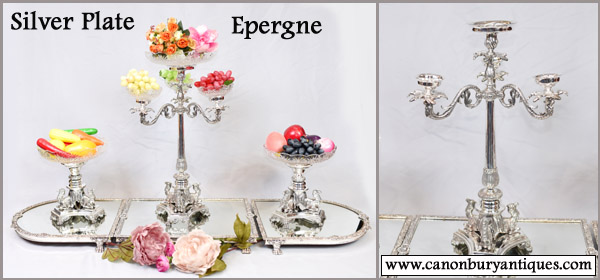 Silver plate centrepiece or epergne