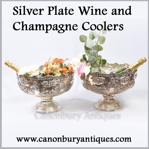 Silver Plate Wine Coolers