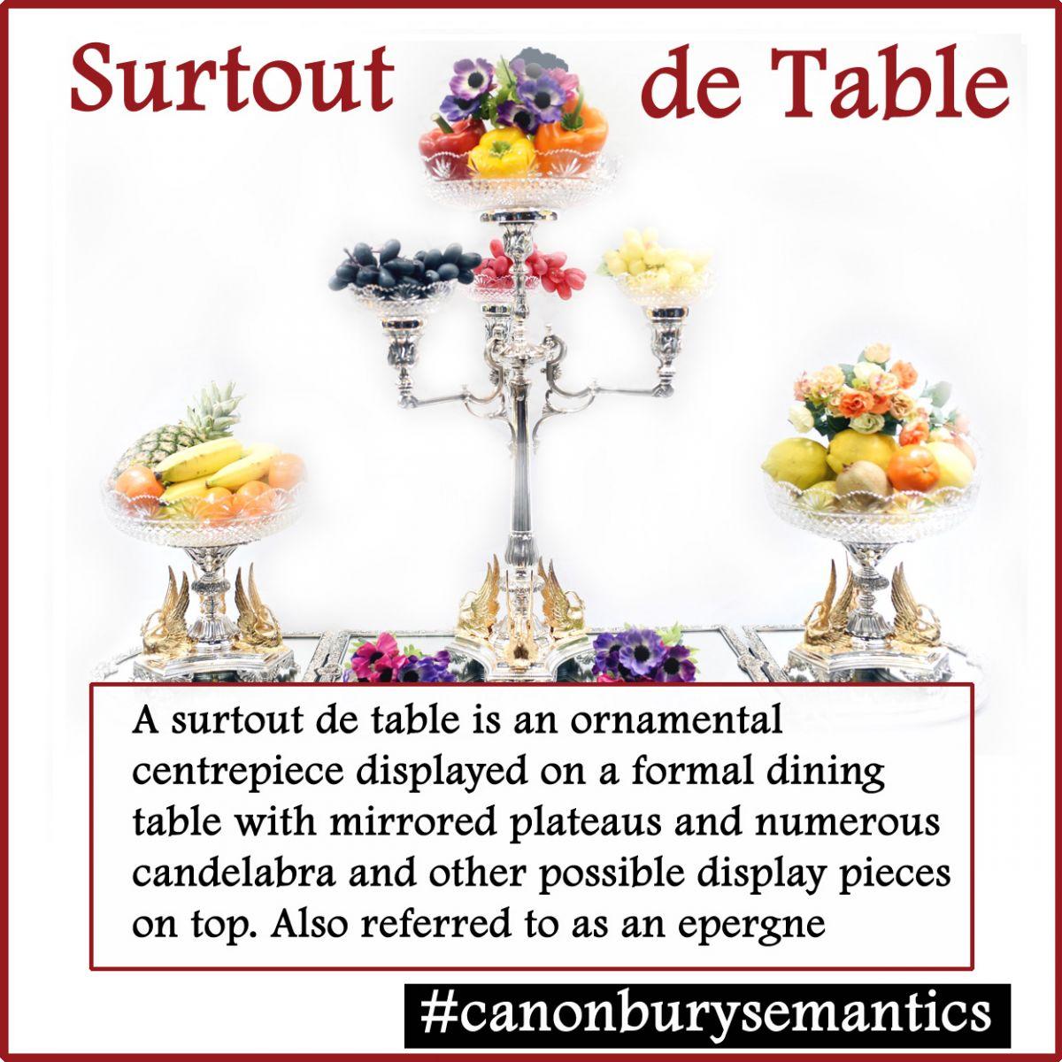 Silver Plate Surtout de  Table - or centrepiece epergne