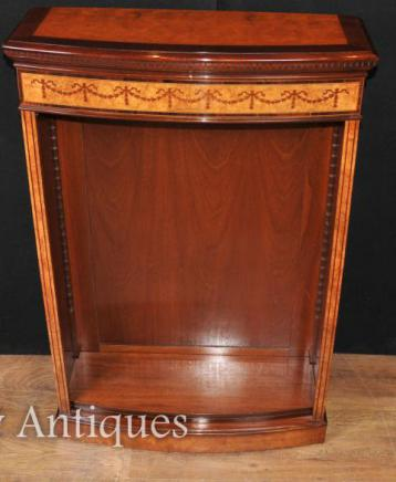 Single Regency Open Front Bookcase in Satinwood