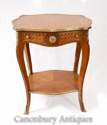 Empire Side Table Parquetry Inlay