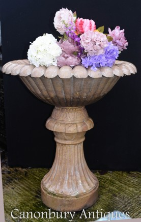 Italian Marble Garden Fountain Font - Stone Water Feature