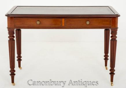 William IV Writing Table Desk in Mahogany