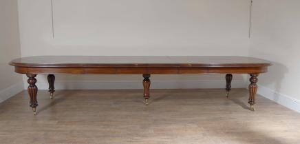 Large Victorian Dining Table - Extending Mahogany Tables 14 ft 427 CM