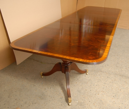 Large Regency Dining Table - Mahogany Extending Tables 16 Feet Long