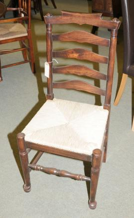 Ladderback Kitchen Chairs - Oak Dining Chair Set 6