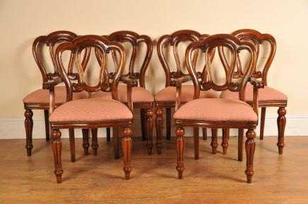 6 Victorian Dining Chairs Admiralty Mahogany