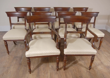 Regency Dining Chairs - English Mahogany Trafalgar Chair