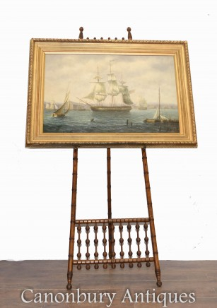 American Oil Painting Clipper Maritime Seascape Boston Art